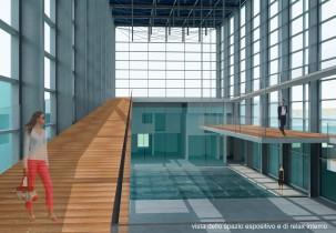 tesi laurea-spazio espositivo all'interno del nuovo centro multifunzionale
